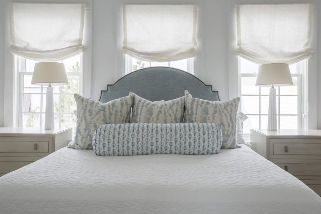 Beds In Front Of Windows Cottage And Vine